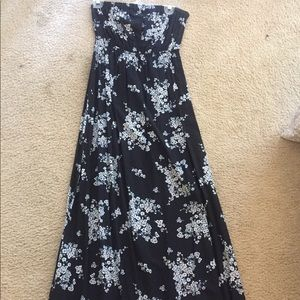 Black and White Floral Old Navy Tube Dress, SZ M